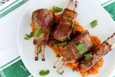 Lamb Chops with Pumpkin Apple Chutney by Bitchin Camero
