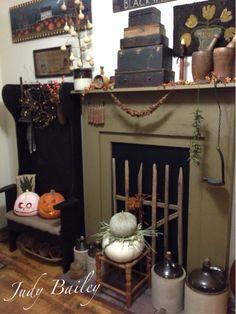 My fall fireplace!
