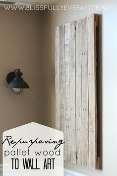 Upcycling: Pallet Wood Projects  and that light fixture!
