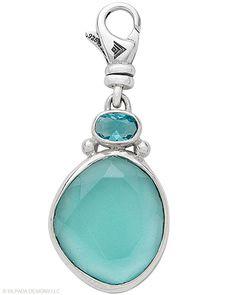 Sterling Silver, Glass.