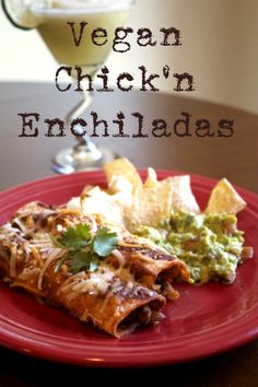 Just in time for Cinco de Mayo: Vegan Chick'n Enchiladas. These simple vegan enchiladas are PERFECT! How to here: http://www.peta2.com/lifestyle/vegan-mexican-recipes/