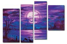 Amethyst Night - Canvas Paintings