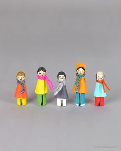 DIY winter peg dolls - Mr Printables