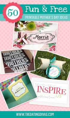 gift, free mother, 50 printabl, mothers day ideas, free printabl
