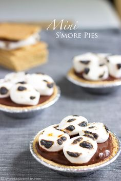 Easy & Cheap S'more Pies via Sweet as a Cookie