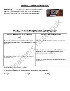 Dividing Fractions Using Models: Warm-up & Practice 6.NS.1 from Impactful Learning on TeachersNotebook.com (2 pages)  - Help your students learn how to divide fractions using bar diagrams.  This warm-up and practice sheet will help them grasp this concept in a straightforward manner.