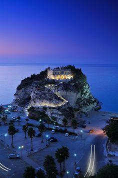 Santa Maria dell'Isola Church, Tropea, Calabria, Italy - Night @Kristen Ratliff