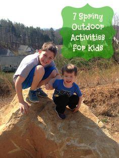 7 Spring Outdoor Activities for Kids via www.jmanandmillerbug.com