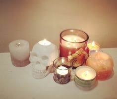 Scull Candles
