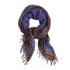 Diamond and plaid scarf