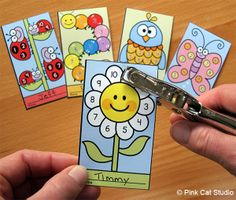 Motivate your students to achieve goals and good behavior with these fun and unique spring theme punch cards. Your students will love the cute characters and they will be excited to earn a punch on their card. Use these cards for behavior management, skill proficiency, homework completion, accelerated reader, goal achievement or anything else you can think of.