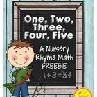 Nursery Rhyme Math Freebie! Perfect for your Pre-K/Kindergarten classroom, this freebie is all about numbers and counting. Included in this package...