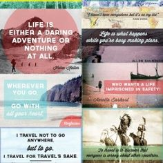 Get inspired to get out there. Here are 10 great  travel quotes. #TravelQuotes