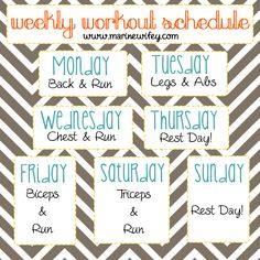 workout weekly schedule template .