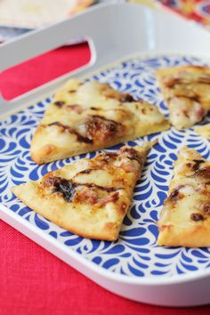 fig and prosciutto pizza with balsamic glaze from @This Week for Dinner
