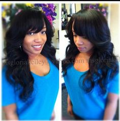Bob With Side Bangs Sew In Images & Pictures - Becuo