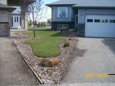 I love it when 2 homeowners are willing to work together on small front yard designs.