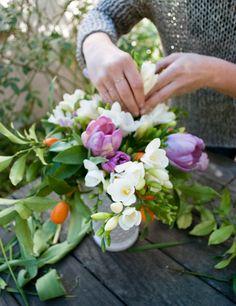 DIY spring flower arrangement from Anne Sage