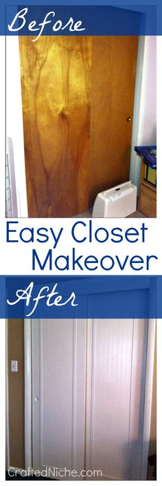 Closet doors before and after