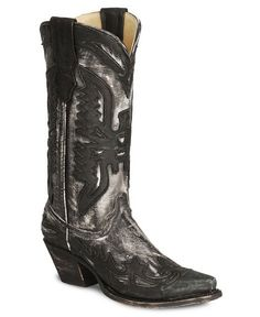 Corral Distressed Eagle Wingtip Cowboy Boot - Snip Toe
