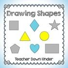 Drawing Shapes practice for young children :: Teacher Down Under (free download)
