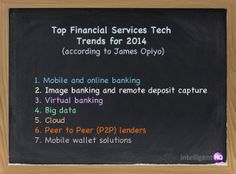 Top Financial Services Tech Trends for 2014 #infographic @intelligentqh