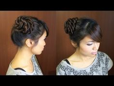 Twisted Rope Braid Hair Bun Updo Hairstyle for Long Hair Tutorial