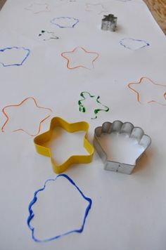 Cookie Cutter Shape Match - my toddler LOVES this!