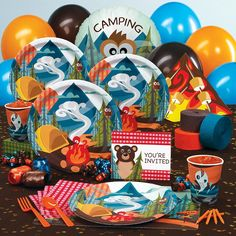 Cutest birthday set EVER! Camping birthday from Birthday Express. May just have to order this a year early haha :)