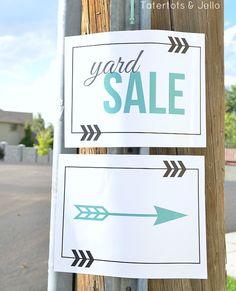 free yard sale free printables