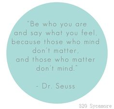 Dr Suess knows!