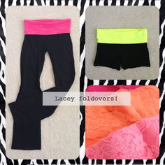 Lacey foldover booty shorts and yoga lounge pants!