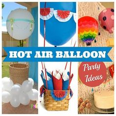 Up, up, and away! Hot Air Balloon Party Theme HERE!