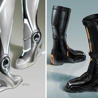 Futuristic Boots, Really freaking awesome futuristic shoes.