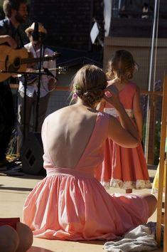full skirt, low back cotton dress diy