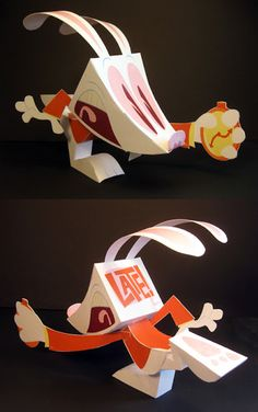 The White Rabbit from Alice in Wonderland - free template at the link!