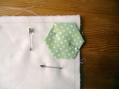 Quilt as you go Hexies tutorial