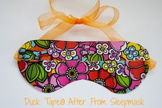 Duck Tape® DIY Sleep Mask...Perfect for after you are Stuck at Prom! #stuckatprom http://duckbrand.com/promotions/stuck-at-prom