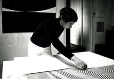 Bridget Riley in her studio, 1960s