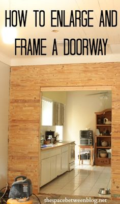 make any doorway larger and more inviting, create a seamless transition throughout your house.  I love this idea!