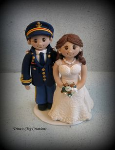 Military Wedding Cake Topper by Trina's Clay Creations