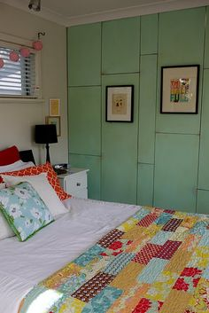 love the quilt and the wall