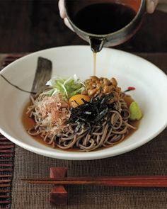 "Natto Soba from Takashi Yagihashi ""Takashi's Noodles"" (Ten Speed Press)"