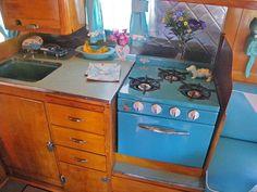 """Shasta vintage trailer ~ julie  """"L.O.V.E. the blue!'"""
