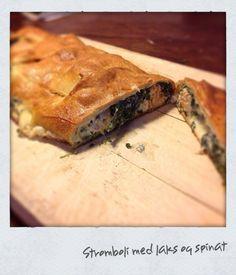 Stromboli med laks og spinat