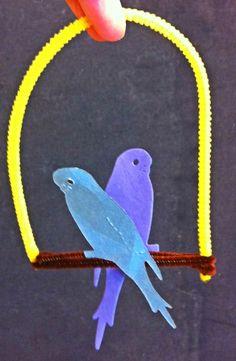 Parakeet craft for Pets theme