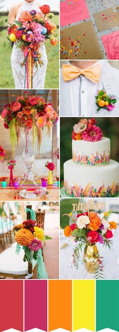 colorful summer wedd