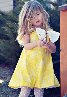 Holiday Bubble Dress in Yellow by simplicitycouture on Etsy