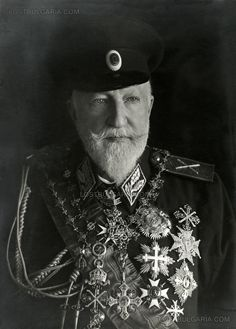 One of the last photographs of King Ferdinand, Tsar of Bulgaria. He abdicated his throne to his son, Boris, during WWI.