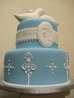 I like the initials idea cake, blue